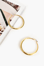 Graduated Hoop Earrings (Gold)