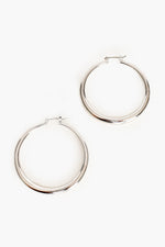 Graduated Hoop Earrings (Silver)