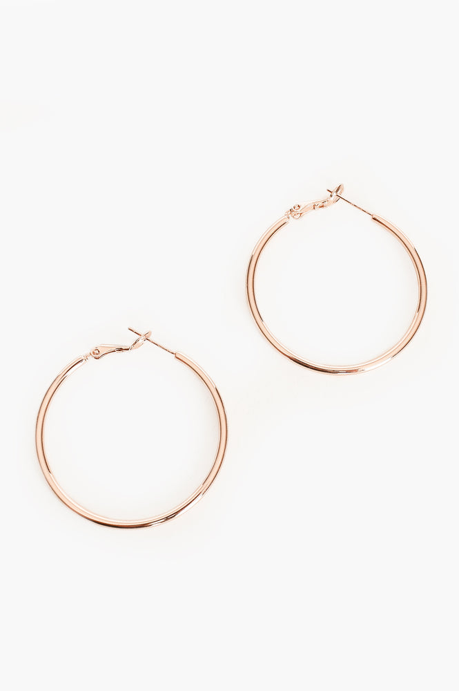 Essential Hoop Earrings (Rose)