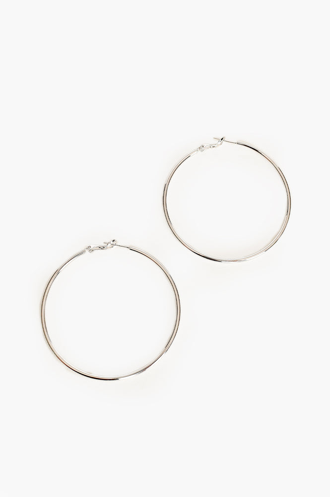 Medium Essential Hoop Earring (Silver)