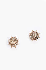 Roman Coin Stud Earrings (Gold)