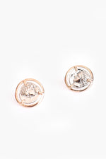 Two Tone Roman Empress Stud Earrings (Silver/Gold)