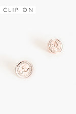 Coin Clip On Earrings (Rose)