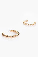 Mini Ball Hoop Earrings (Gold)