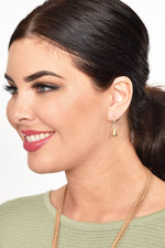 French Hook Tiny Teardrop Earrings (Gold)