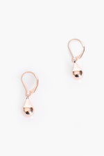 French Hook Tiny Teardrop Earrings (Rose)
