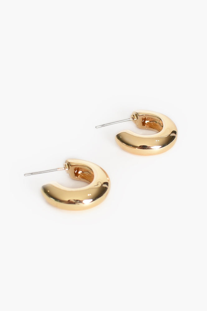 Small Chunky Hoop Front Earrings (Gold)