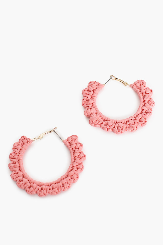 Mini Crochet Hoops (Coral)