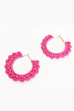Mini Crochet Hoops (Hot Pink)