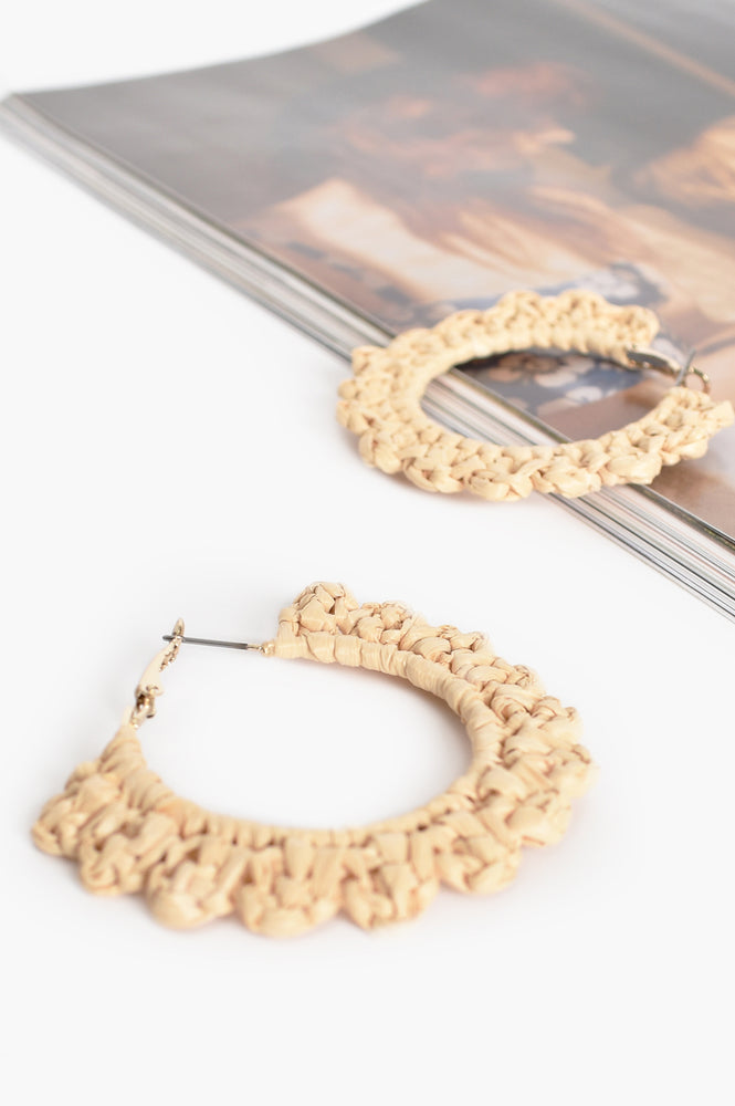 Mini Crochet Hoops (Natural)
