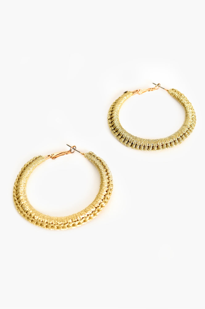 Wrapped Statement Hoops (Gold)