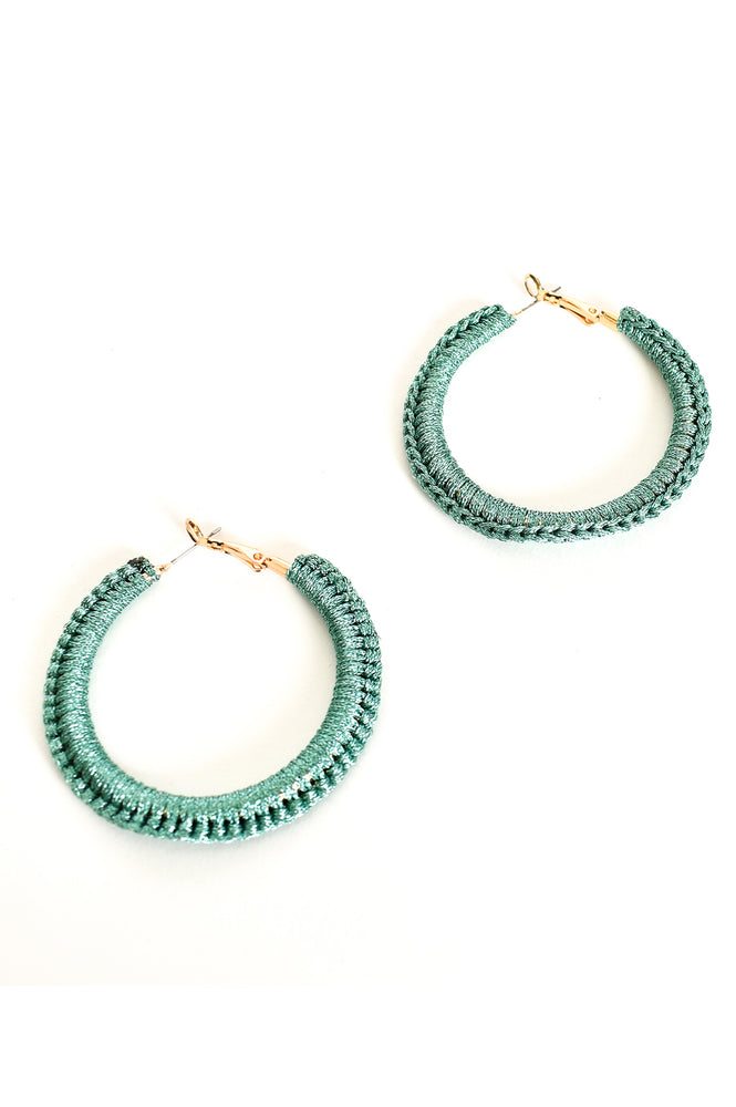Wrapped Statement Hoops (Mint)