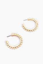 Dot Edge Metal Hoops (Gold)