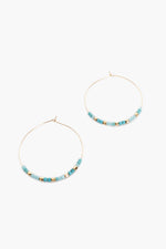 Fine Glass Bead Hoop (Mint)