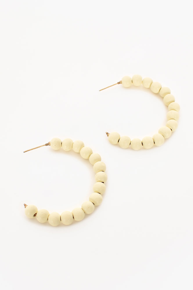 Timber Bead Hoop (White)