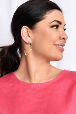 Multi Bead Hoop Earrings (Multi)