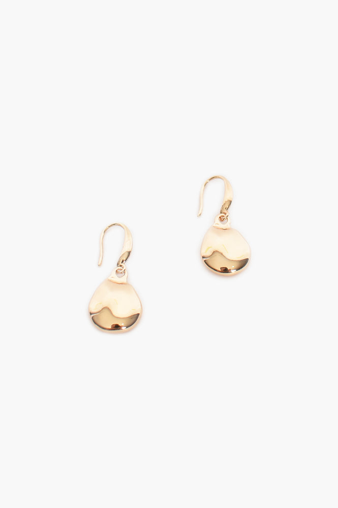 Cast Pearl Shape Hook Earrings (Gold)
