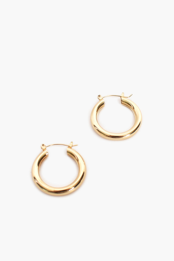 Midi Tube Hoop (Gold)
