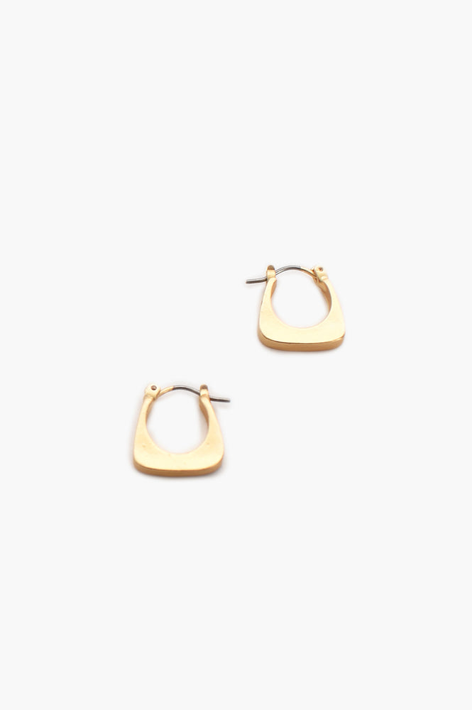 Mini Geo Hoop (Gold)
