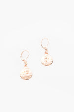 Pearl Disc Hook Earrings (Rose/Cream)