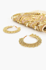 Crochet Hoops (Gold)