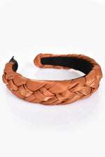 Satin Plait Headband (Tan)