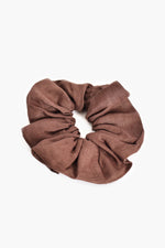Supersize Linen Scrunchie (Chocolate)