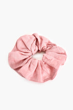 Supersize Linen Scrunchie (Pink)