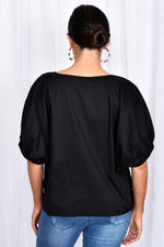 Pippa Unstructured Top (Black)