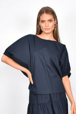 Pippa Unstructured Top (Navy)