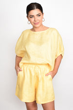 Billy Linen Shorts (Yellow)