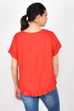 Josie Ruffle Top (Red)