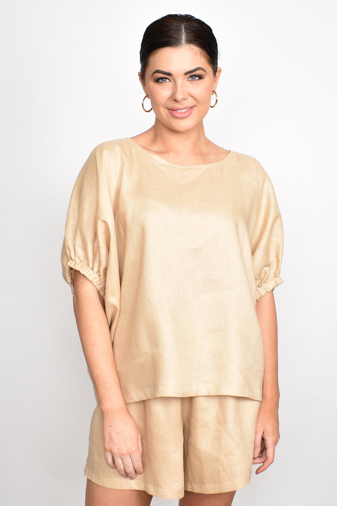 Pippa Unstructured Top One Size (Natural)