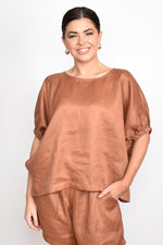 Pippa Unstructured Top One Size (Tobacco)