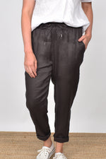 Annabel Linen Pant (Charcoal)