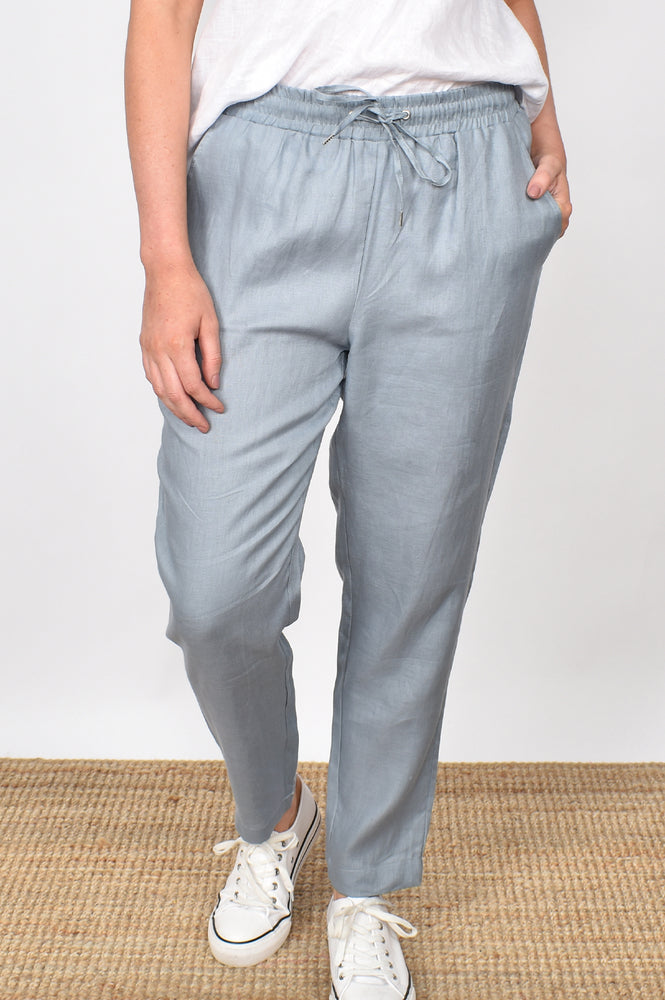 Annabel Linen Pant (Steel Grey)