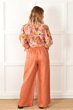 Billy Linen Wide Leg Pant (Tan)