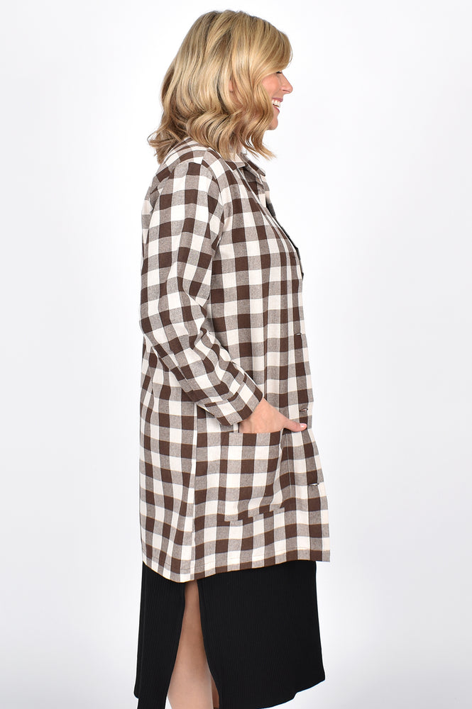 Astrid Check Jacket (Choc)