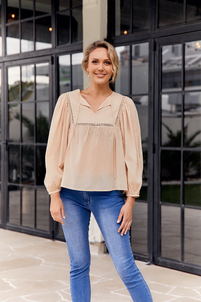 Isla Boho Top (Cream)