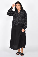 Mia Tiered Skirt (Black)