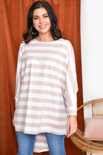 Stripe Hi Lo Top (Pink)