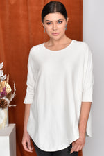 Asymmetrical Knit (White)