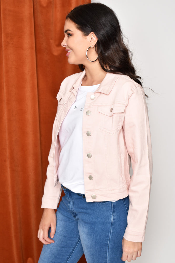 Denim Jacket (Pink)