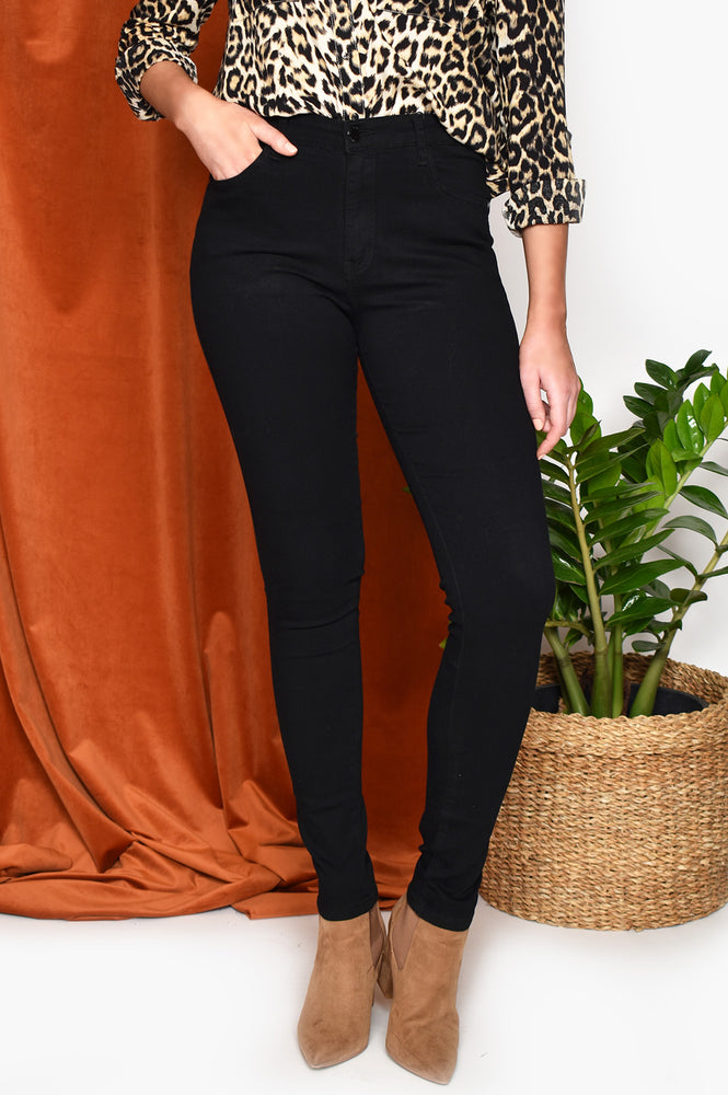 Denim Stretchy Jean (Black)