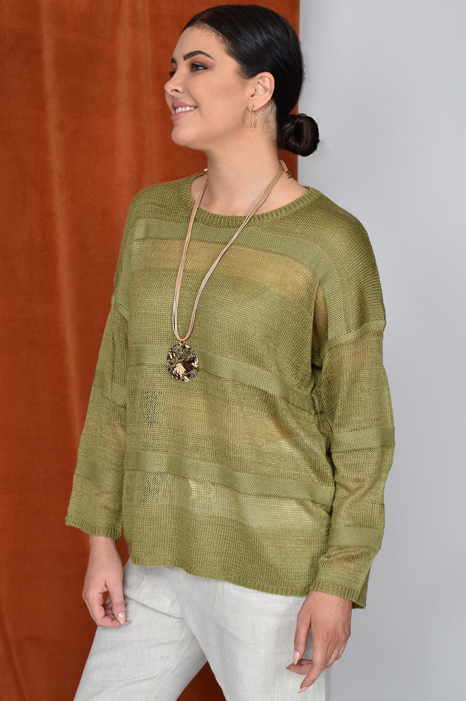 Stripe Knit (Olive)