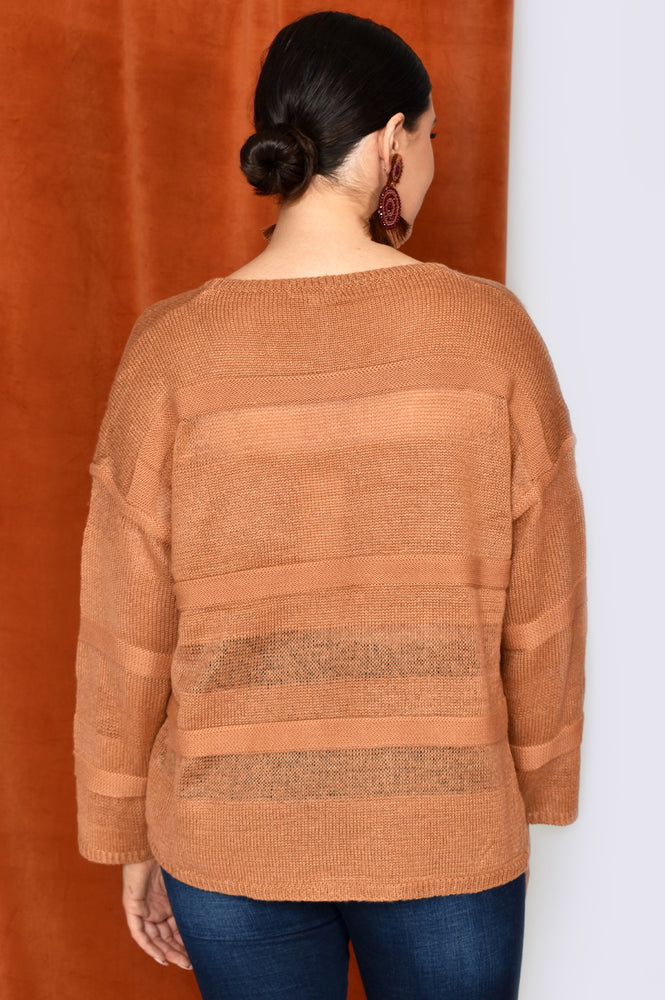 Stripe Knit (Rust)