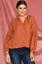 Maya Blouse (Rust)