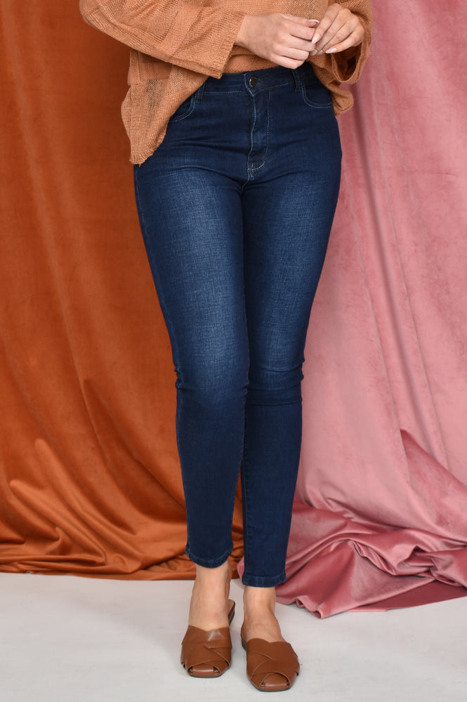 Blue Stitch Skinny Jean (Denim)