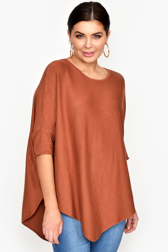 Asymmetrical Knit (Rust)