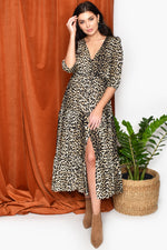 Leopard Tiered Maxi Dress (Leopard)